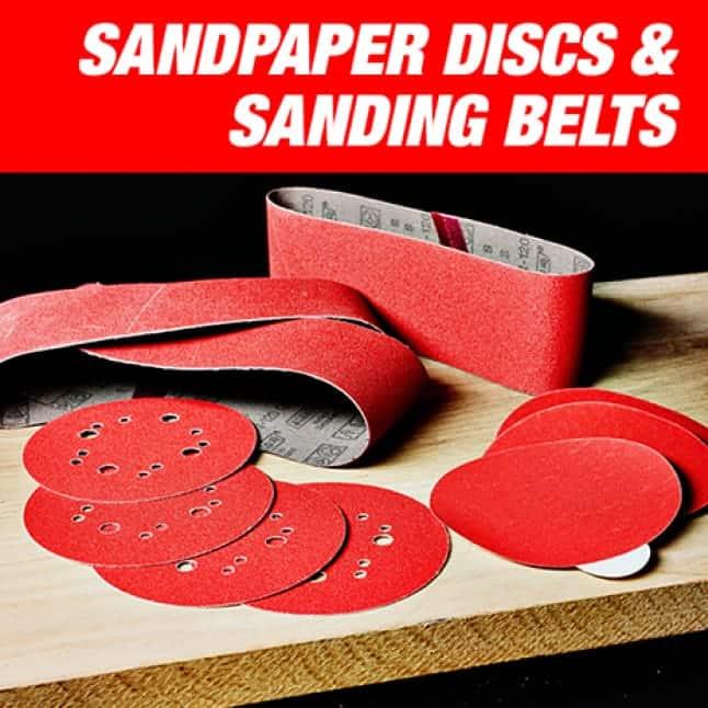 Image of Diablo's sandpaper discs and sanding belts.