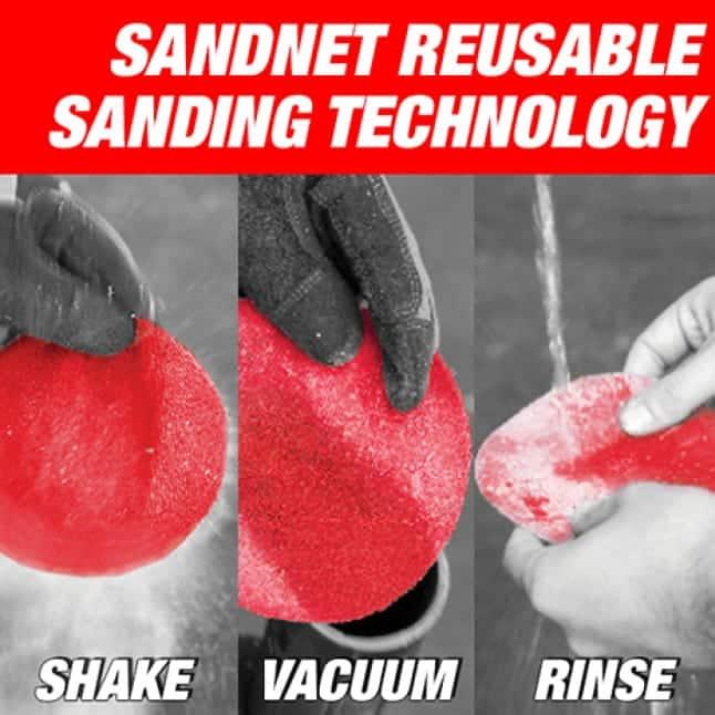 Image of SandNet resusable sanding technology.
