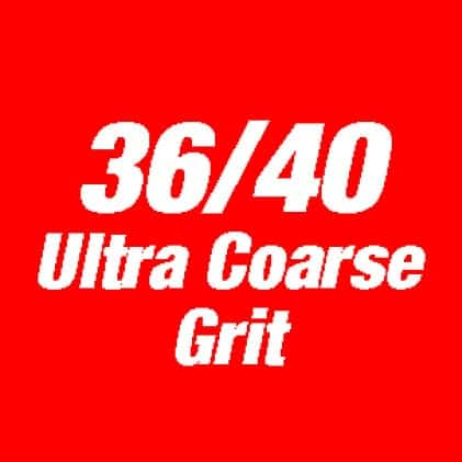 This is an image of 36/40 ultra coarse grit.