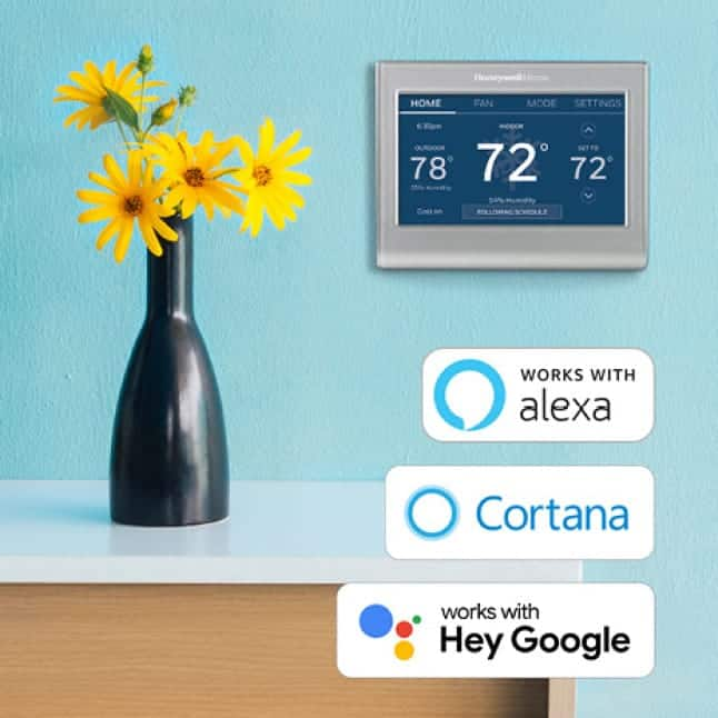 Smart Color with compatible voice assistant devices including Amazon Alexa, Google Assistant, and Microsoft Cortana