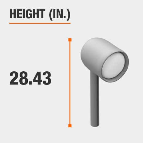 This light's height is 28.43 inches.
