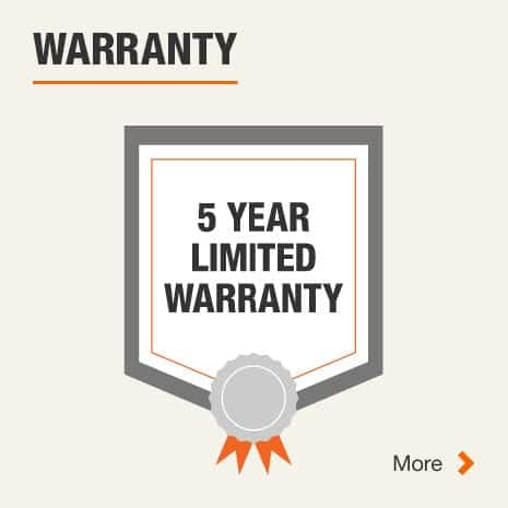 5 Years Manufacturer Warranty. Click for more information.
