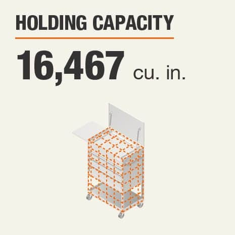 Holding Capacity 16467 Cubic Inches