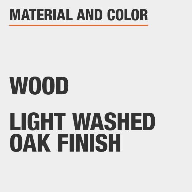 Light Washed Oak Wood End Table