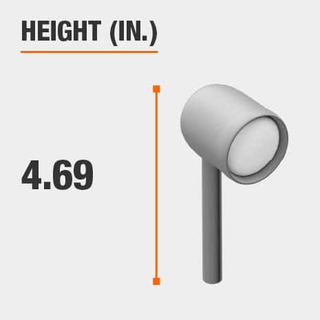 This light's height is 4.69 inches.