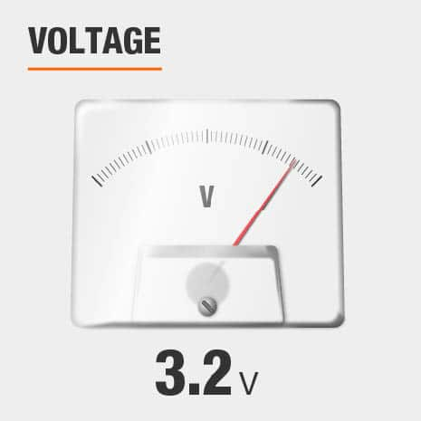 This light has a voltage of 3.2v.