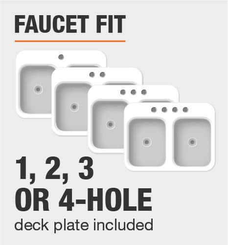 Faucet Fit 1 2 3 or 4 Hole Deck Plate Included