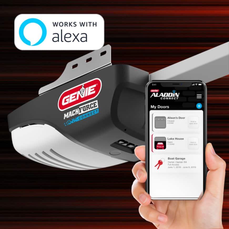 Genie MachForce Connect Garage Door Opener Works With Alexa