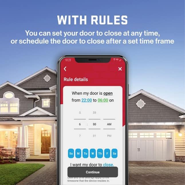 Genie MachForce Connect Screw Drive Garage Door Opener Virtual Keys