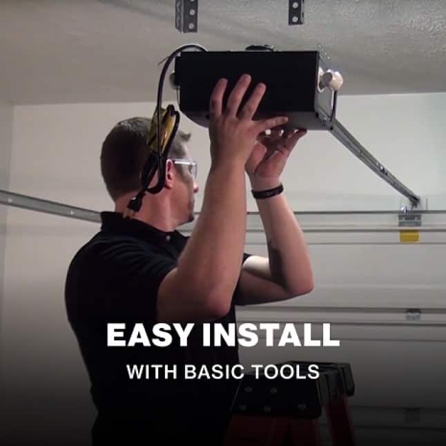 Genie SilentMax Connect easy to install garage door opener