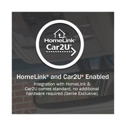 Genie SIlentMax Connect - HomeLink is built-in