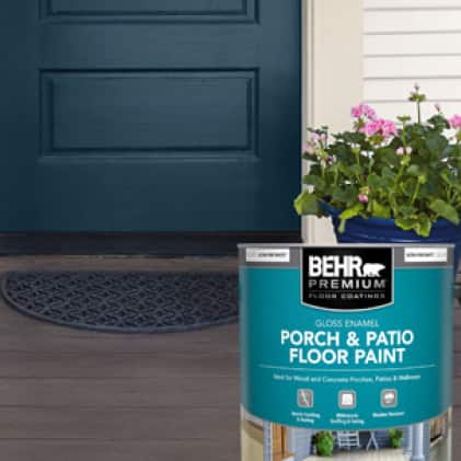 BEHR PREMIUM Porch and Patio Gloss Floor Paint can-shot