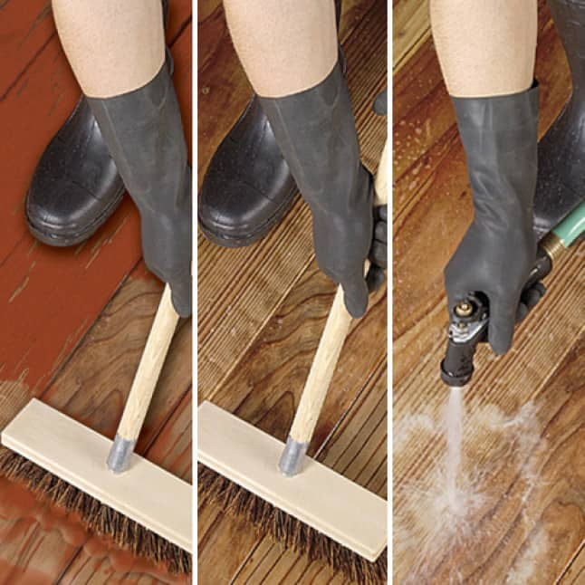 Prep application steps for wood surfaces