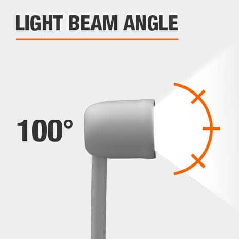 This light has a beam angle of 100.