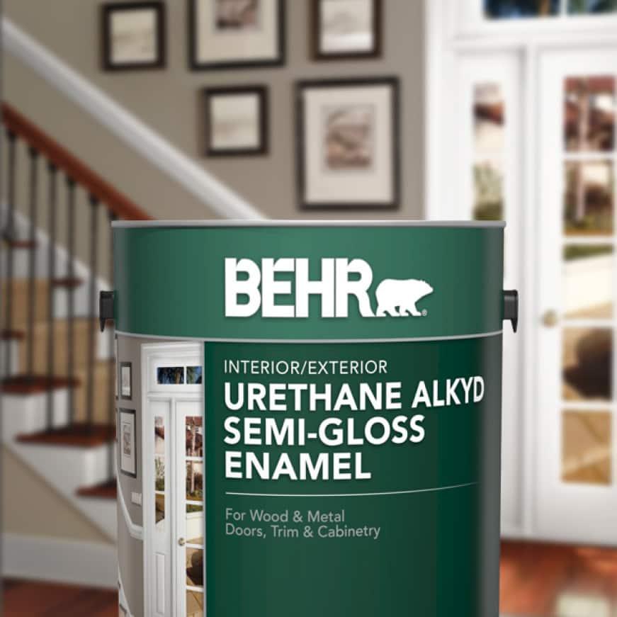 BEHR Urethane Alkyd Semi-Gloss Enamel Can