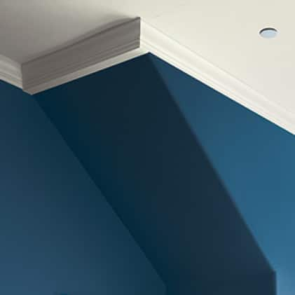 Ceiling trim painted white