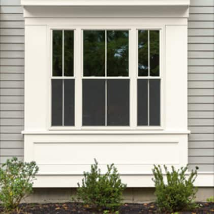 White window frame and casing painted white