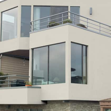 2 Level Modern House with a Stucco, White Finish