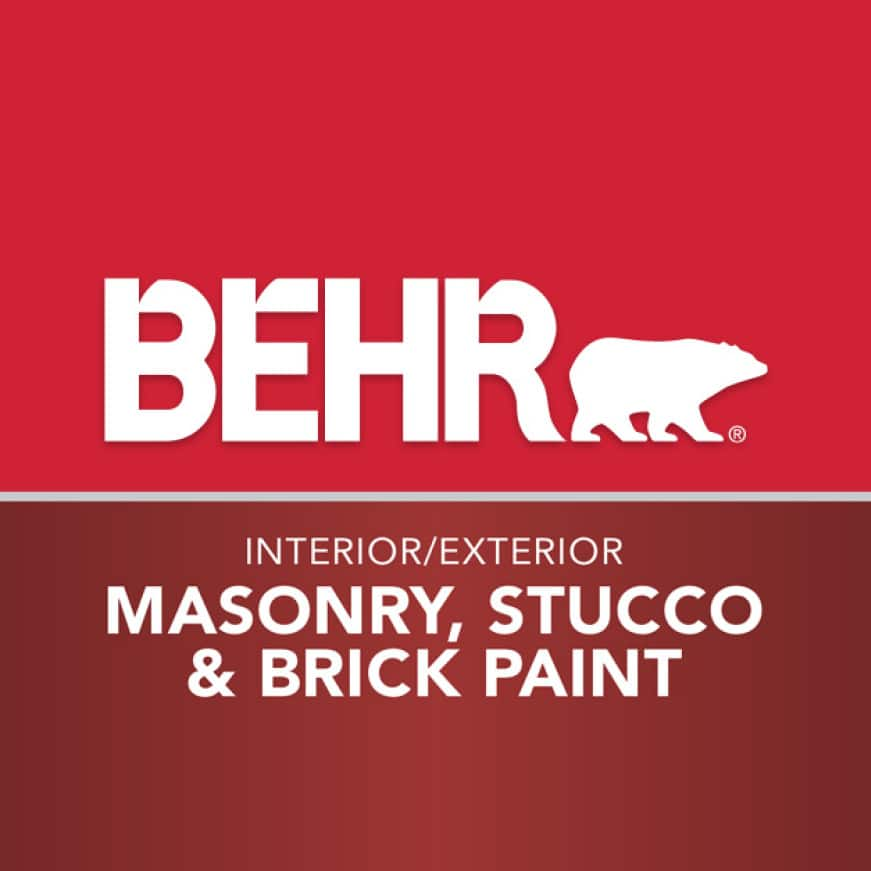 BEHR logo for Masonry, Stucco and Brick coating