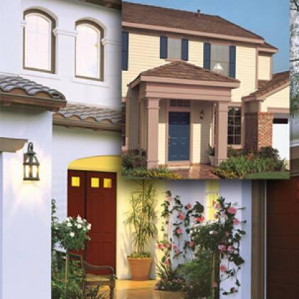 Multi-family stucco units shown, multi-colored