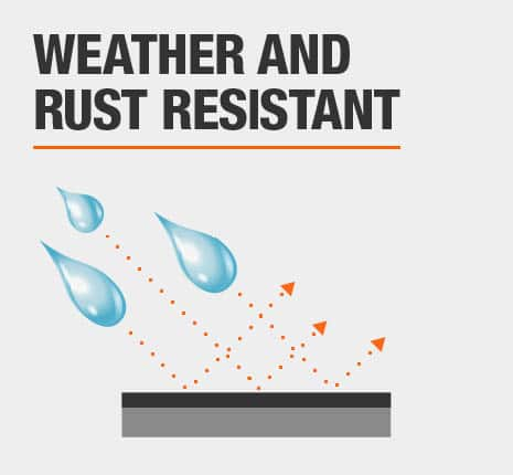 Weather and Rust Resistant