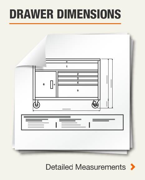 Drawer Dimensions (4) Large Drawer, (4) Medium Drawers,(10) Small Drawers
