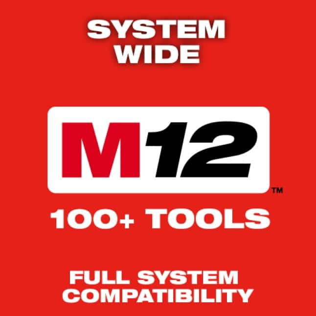 Milwaukee's power tools are part of the M12 System, featuring over 100 cordless solutions.