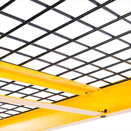 DEWALT offers the highest level of shelf support by loading every DXST10000 shelf with two different types of load-bearing straps.
