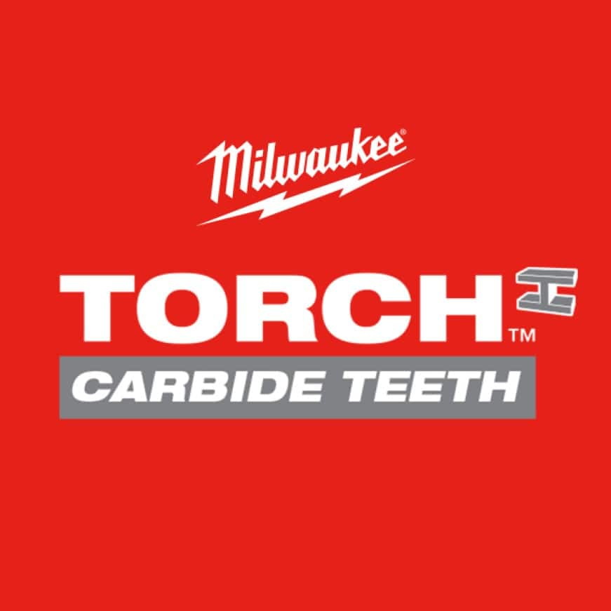 THE TORCH™ with Carbide Teeth Sawzall Blade delivers 50X Life vs. Standard Bi-Metal Blades