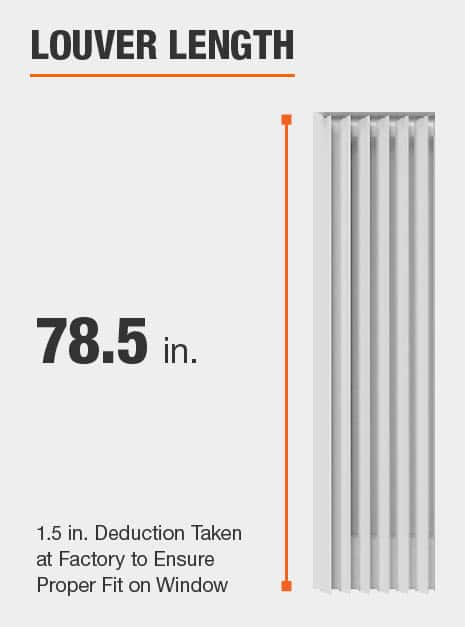Louver Length, 78.5 Inches