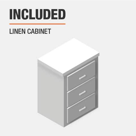 Linen cabinet included