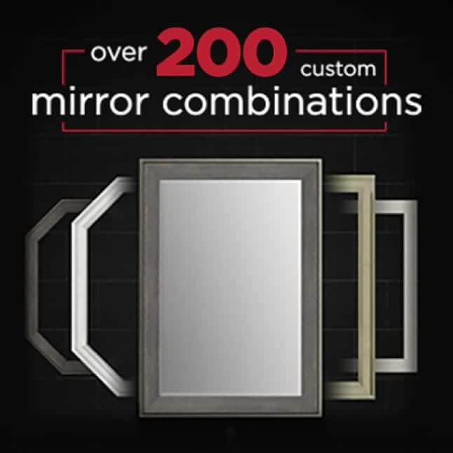 Image showing 200 mirror combinations available to complement any style