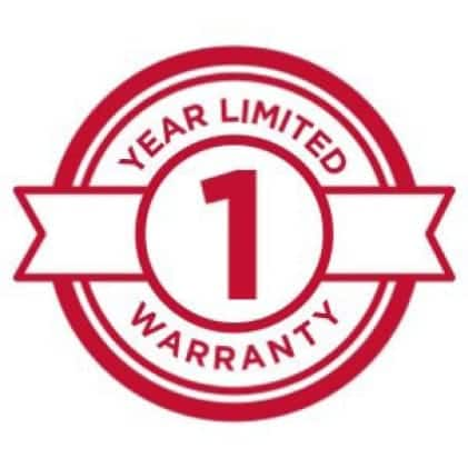 Icon showing 1 year warranty
