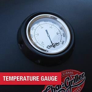 Built-in temperature gauge for accurate temperature control.
