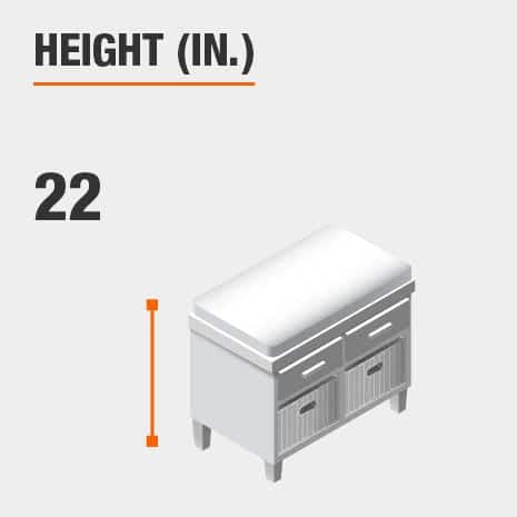 Height 22 inches