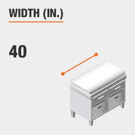 Width 40 inches