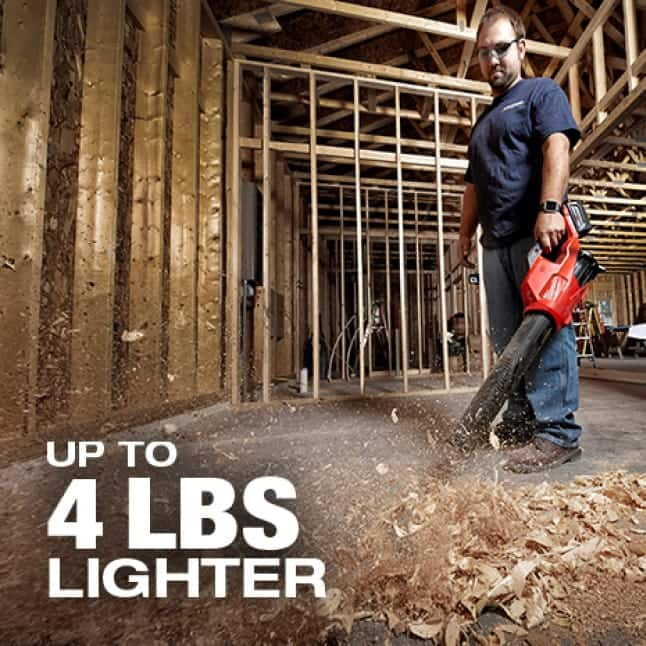 Lighter weight reduces fatigue over the use of the tool