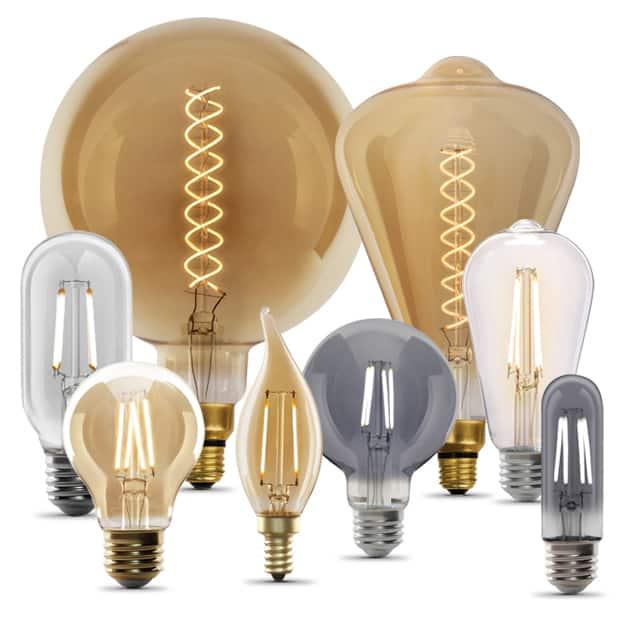 Feit Electric Decorative antique touch Vintage LED Edison Bulbs
