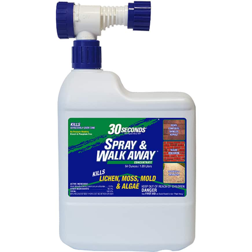 30 SECONDS Spray & Walk Away Ready-To-Spray cleans stains on all outdoor surfaces
