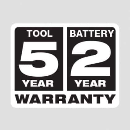 Five Year Tool, 2 Year Battery