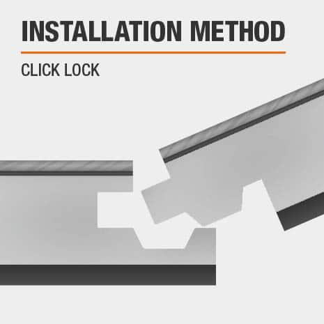 Luxury Vinyl Plank flooring provides easy click lock installation.