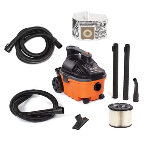 Includes 1-7/8 in. x 7 ft. Hose, 1-7/8 in. x 14 ft. Hose, 2 Extension Wands, Utility Nozzle, Car Nozzle, Standard Filter, Dust Bag