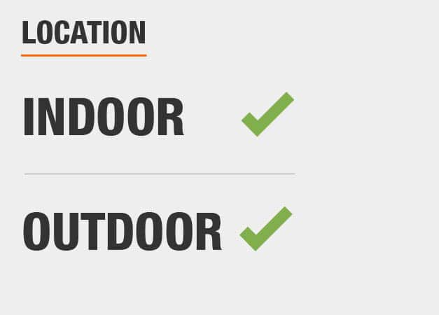 This is an Indoor/Outdoor light.