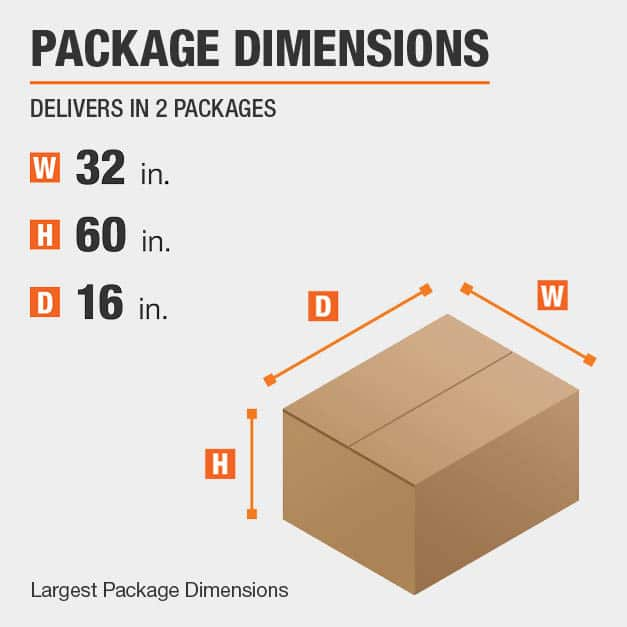 Secretary Desk Package Dimensions 32 inches wide 16 inches high