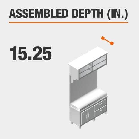 Assembled Depth 15.25 in.