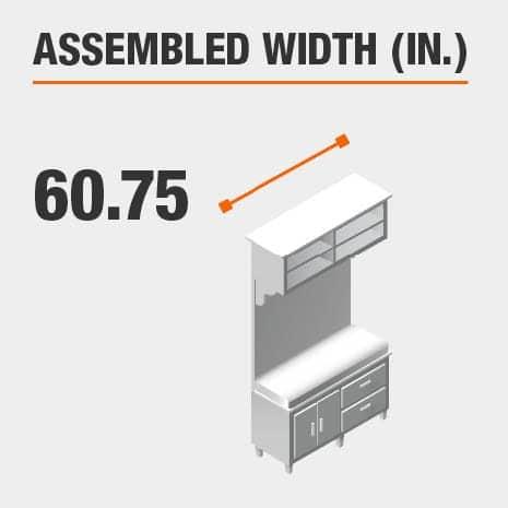 Assembled Width 60.75 in.