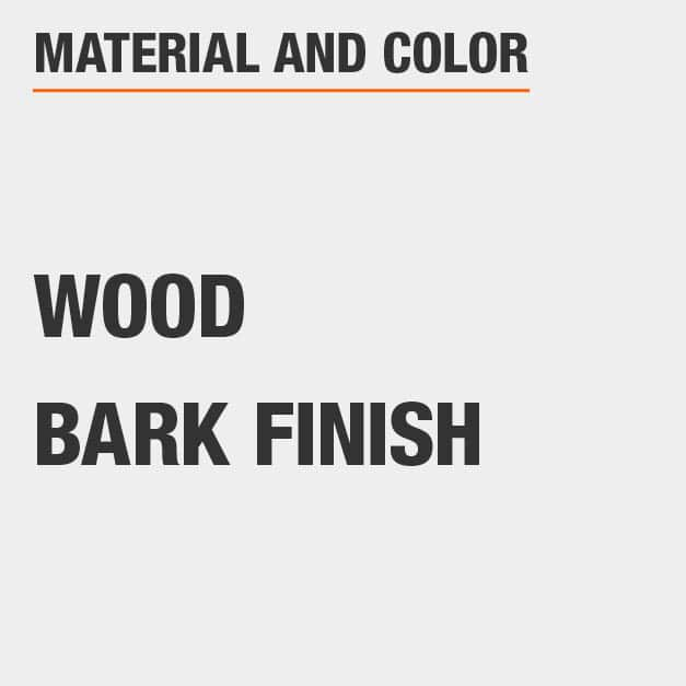 Bark Finish Wood Round Dining Table