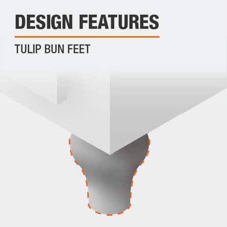 File Cabinet with Tulip Bun Feet