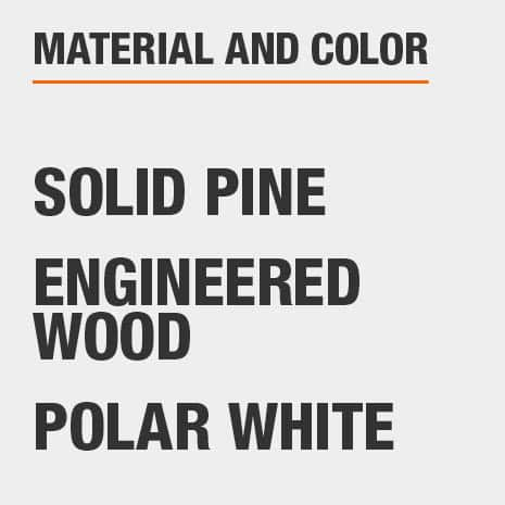 Polar White Engineered Wood Solid Pine  File Cabinet
