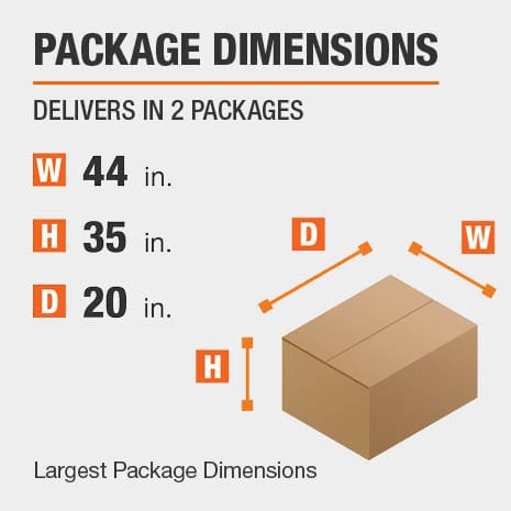 File Cabinet Package Dimensions 44 inches wide 20 inches high